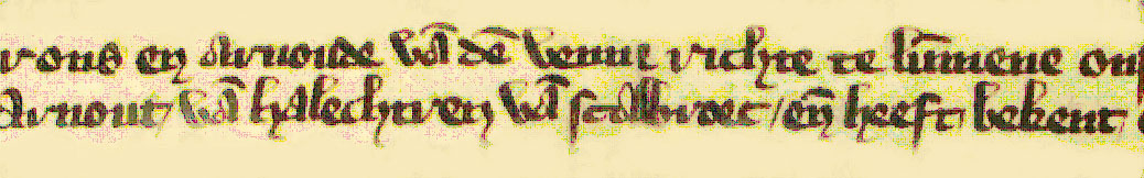 """Allicht de oudste vermelding van het gehucht met als schrijfwijze 'Scalbroec', gevonden op een perkamenten oorkonde van 13 januari 1367. We lezen: """"ons ende Arnoude Van den Venne richteren te Lummene Arnout van Halechtren van Scalbroec ende heeft bekent..."""""""