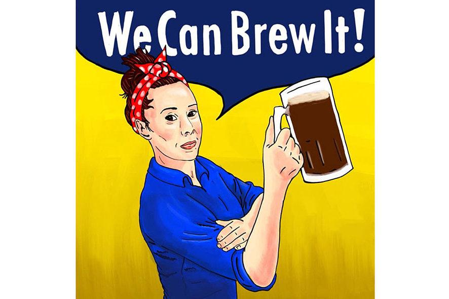Vrouw brouwt bier